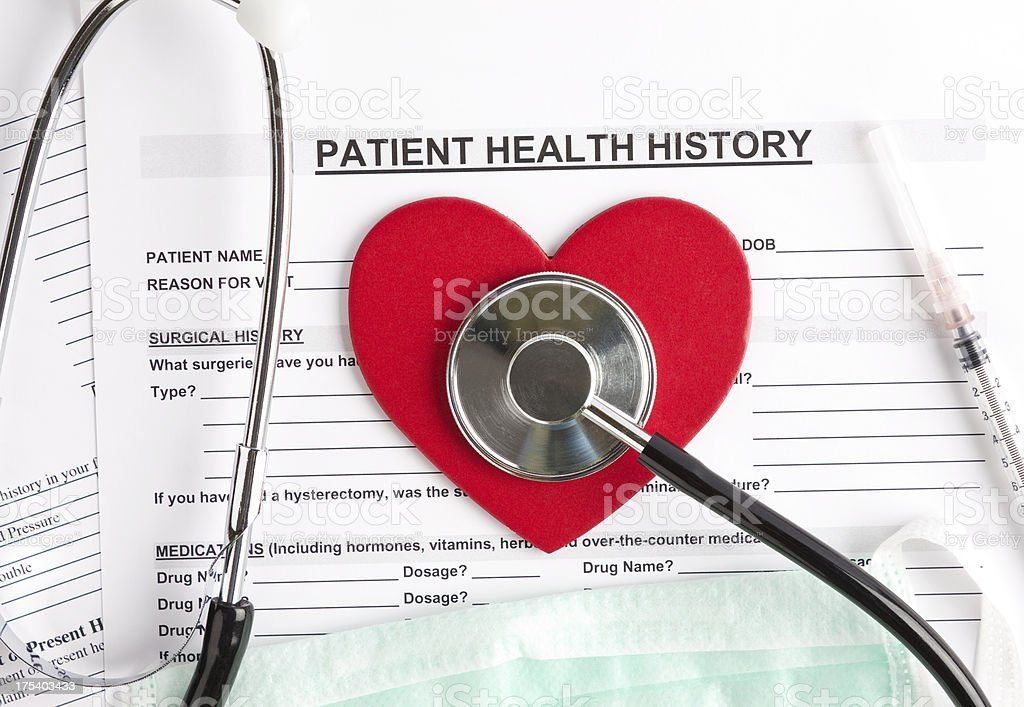 Patient health history royalty-free stock photo
