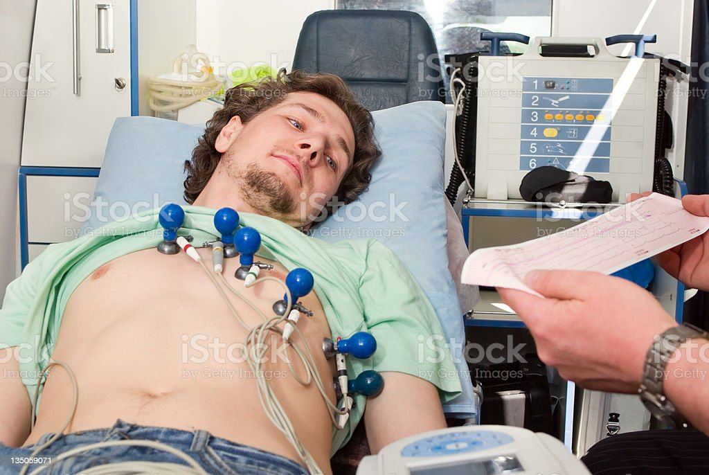 patient in ambulance royalty-free stock photo