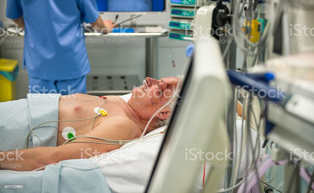 Patient In Operating Theater stock photo