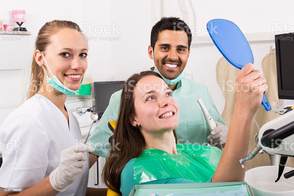 patient in the dental clinic stock photo