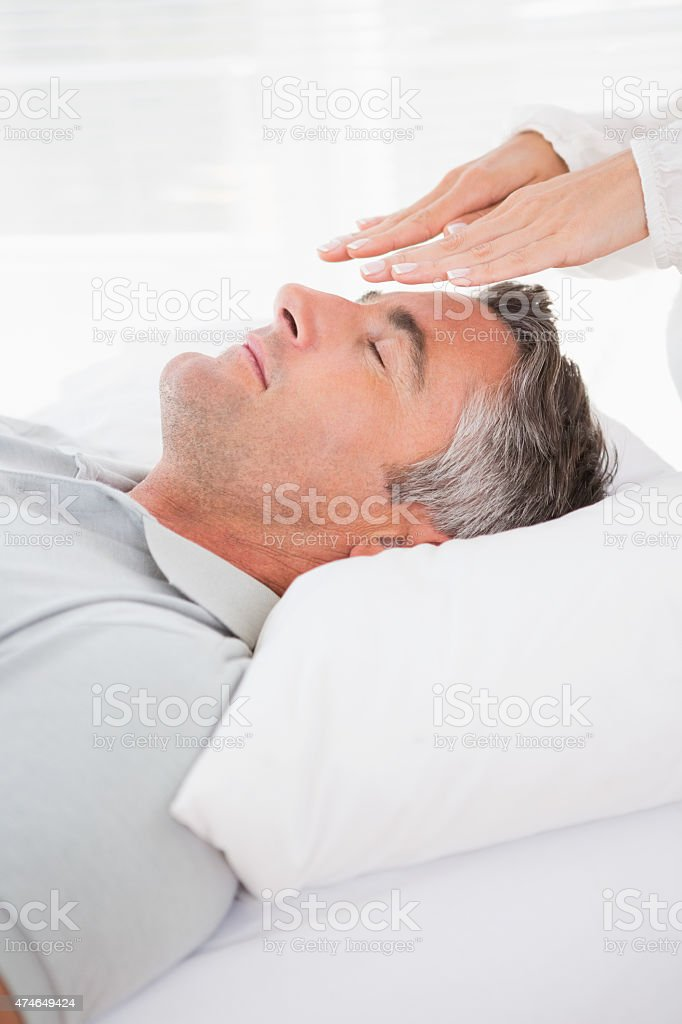 Patient in therapy stock photo