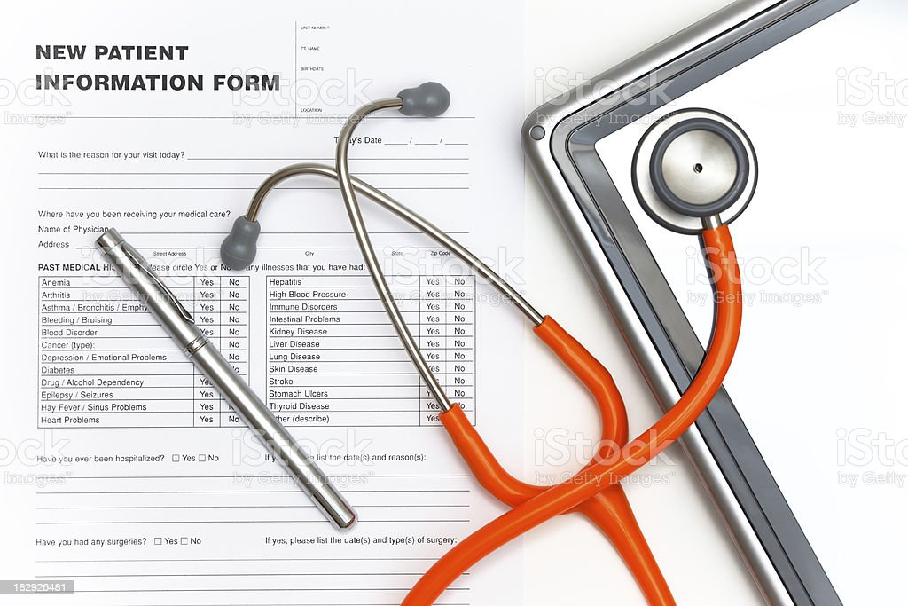 Patient Information royalty-free stock photo