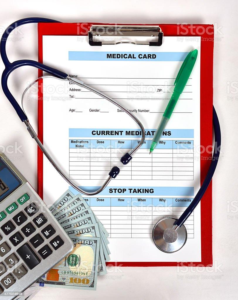 Patient information stock photo