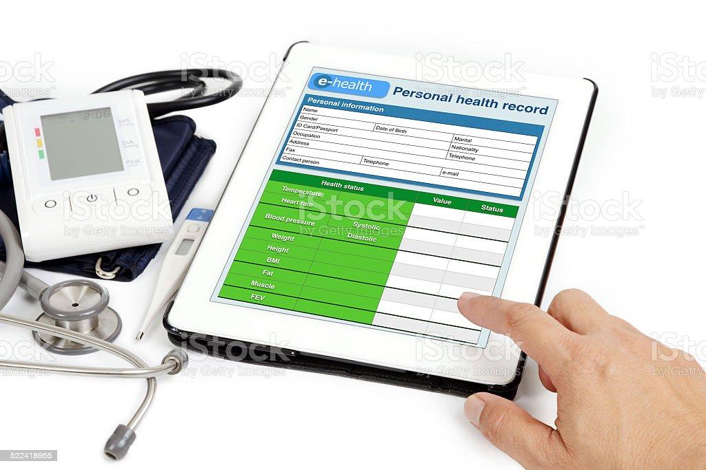 Patient information. stock photo