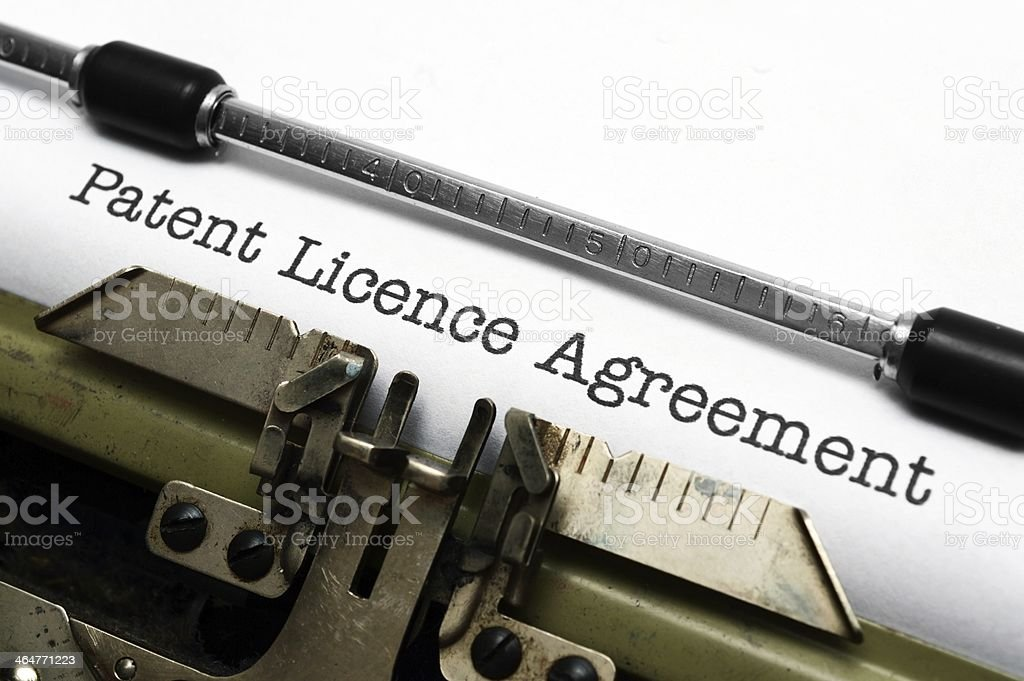 Patient license agreement royalty-free stock photo