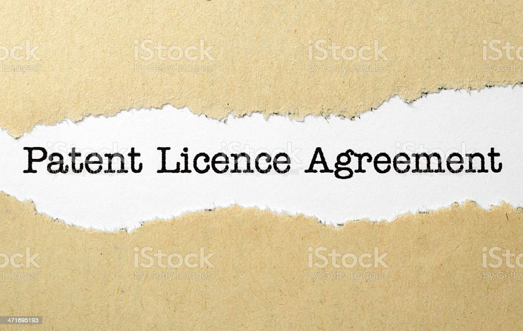 Patient license agreement stock photo