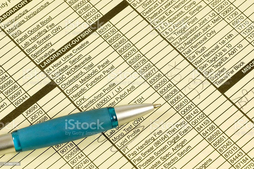 Patient Paperwork With Pen royalty-free stock photo
