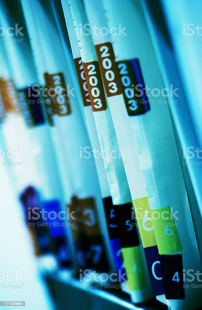 Patient records stock photo