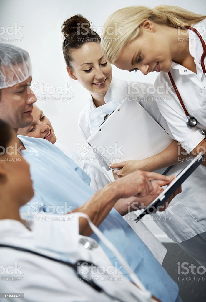 Patient recovery is their main goal royalty-free stock photo