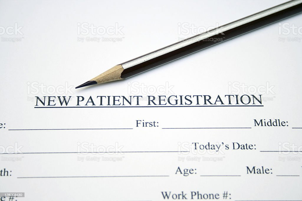 Patient registration form royalty-free stock photo