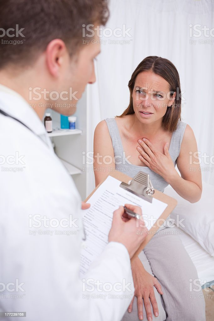 Patient talking to doctor royalty-free stock photo