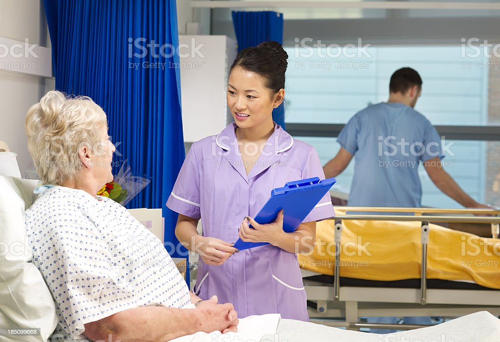patient talks to nurse royalty-free stock photo