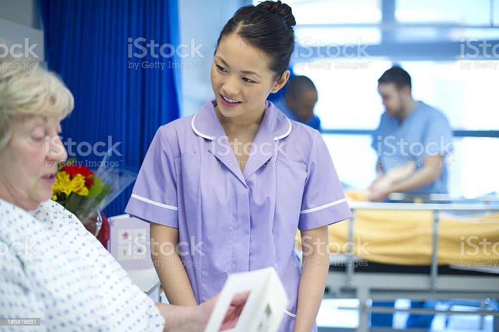 patient talks to nurse royalty-free stock photo