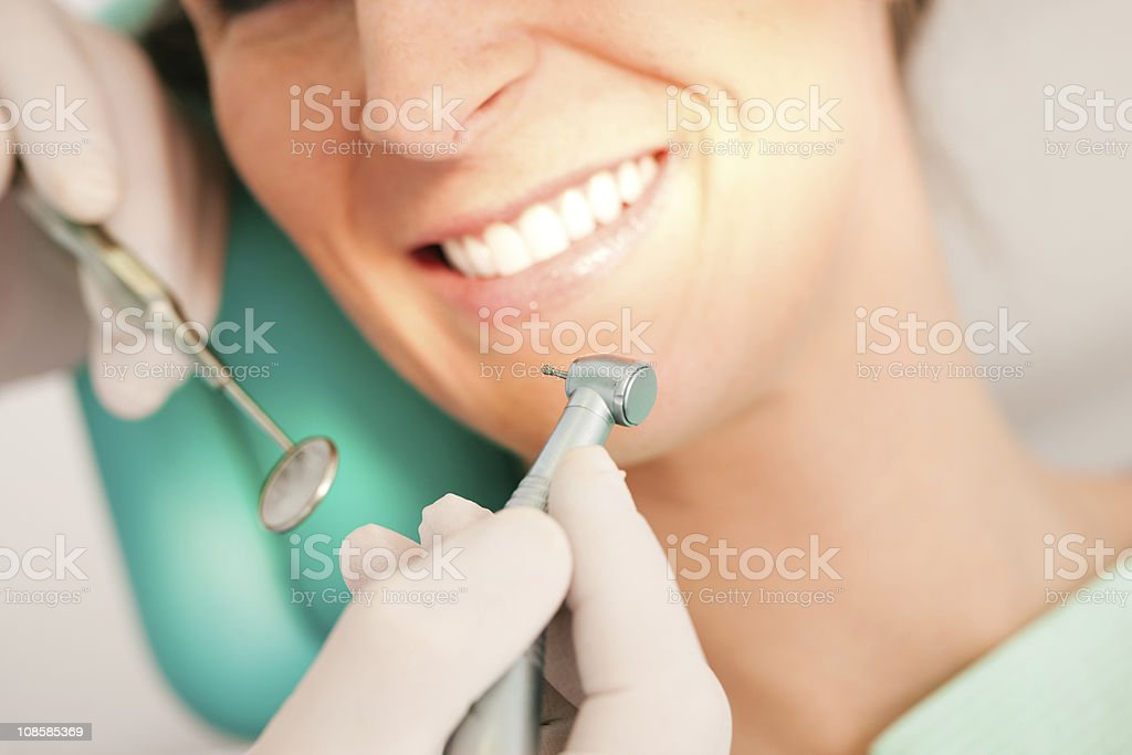 Patient with Dentist - dental treatment royalty-free stock photo