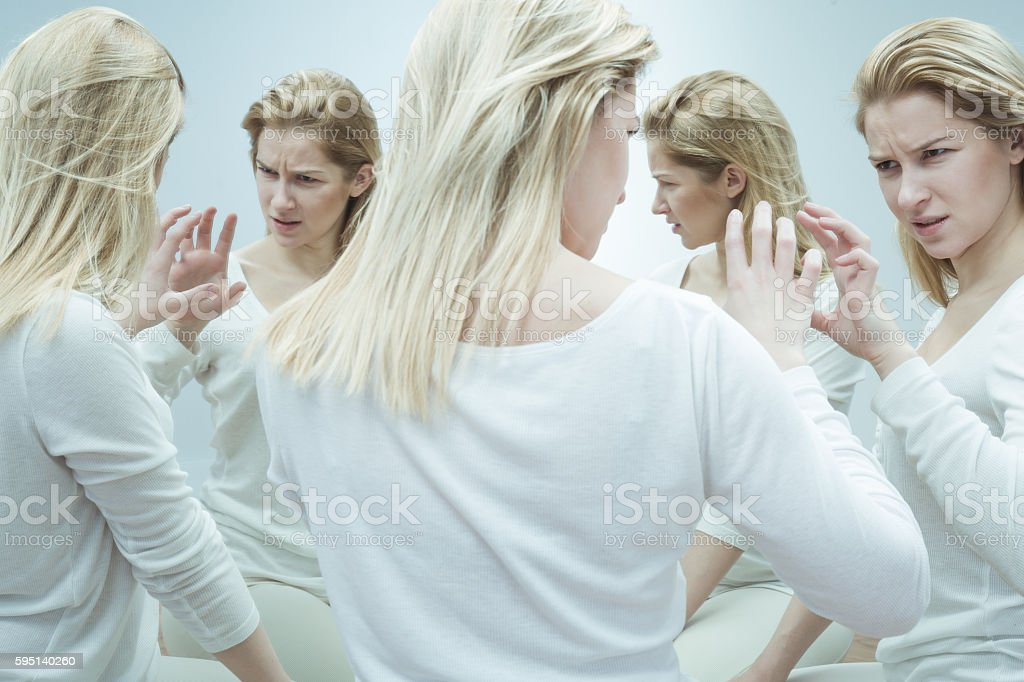 Patient with mental illness stock photo