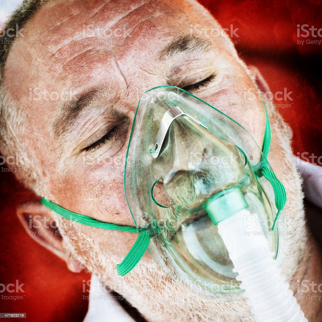 Patient with Oxygen Mask royalty-free stock photo