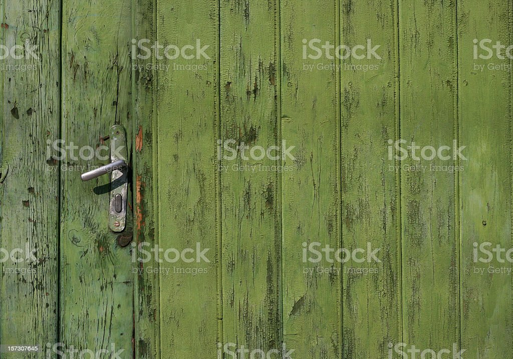 Patinated Door Detail royalty-free stock photo