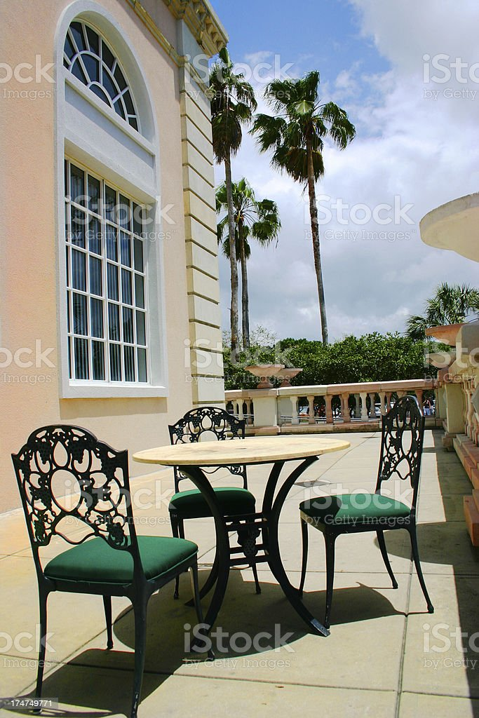 Patio Cafe stock photo