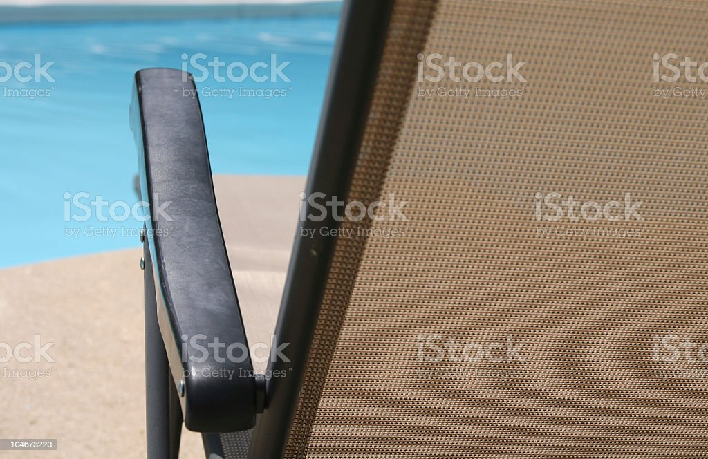 Patio Chaise Lounge royalty-free stock photo