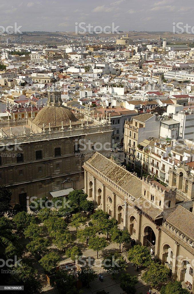 Patio de los Naranjos, Overview Sevilla, Andalucia, Spain stock photo