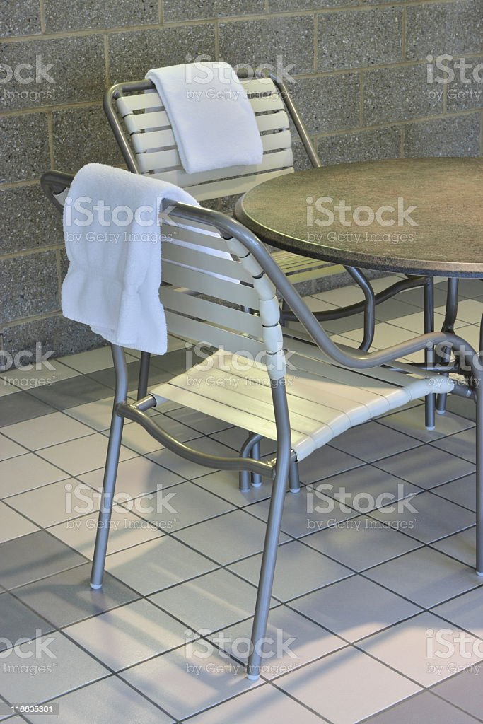 Patio Deck Chair Poolside royalty-free stock photo