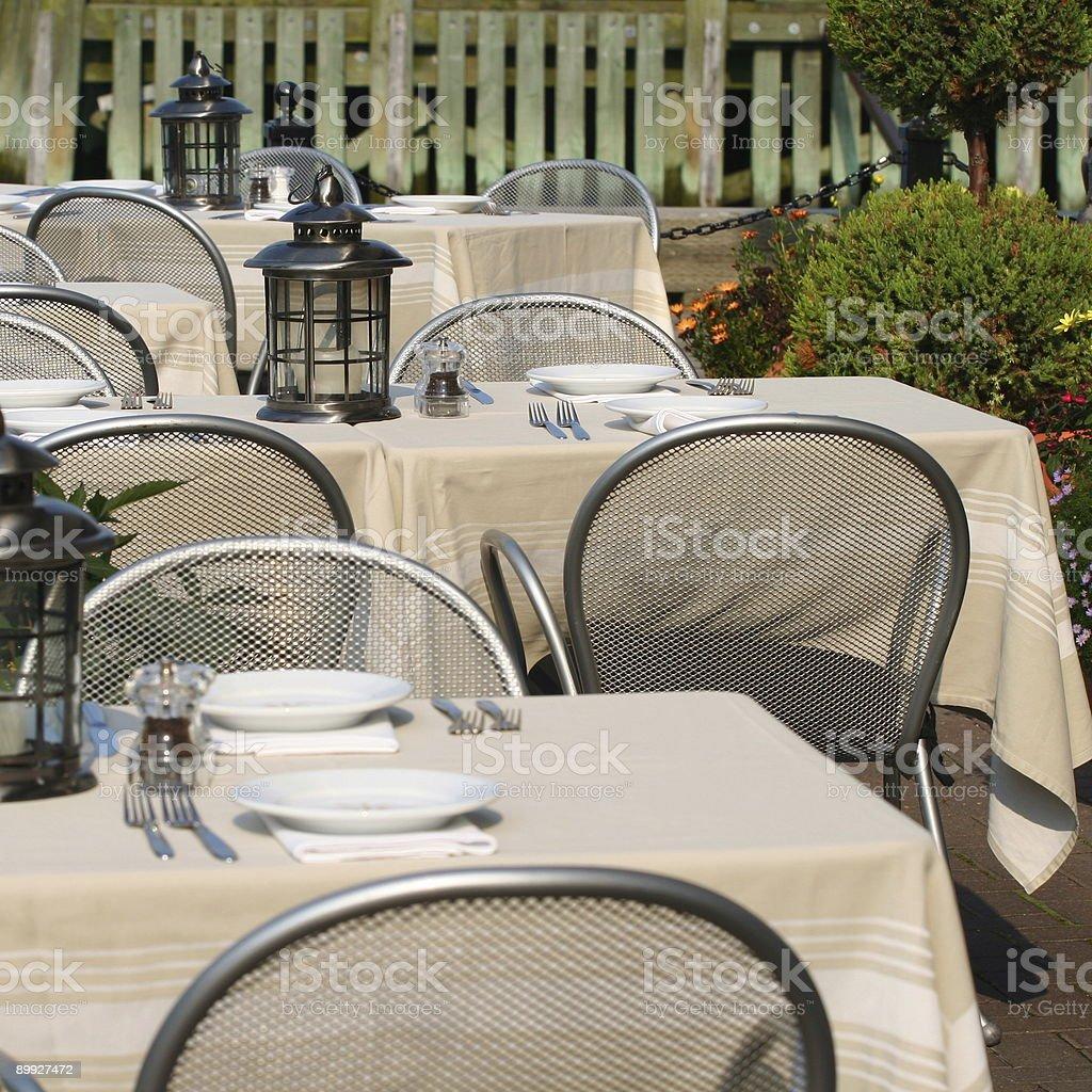 Patio Dining royalty-free stock photo