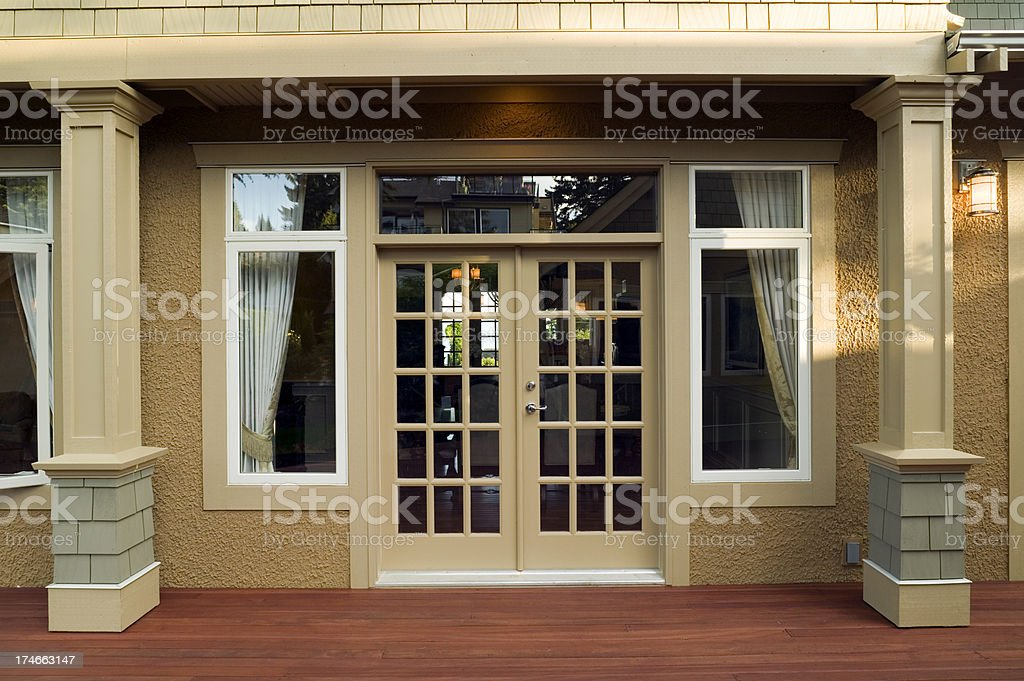 patio entrance home exterior stock photo