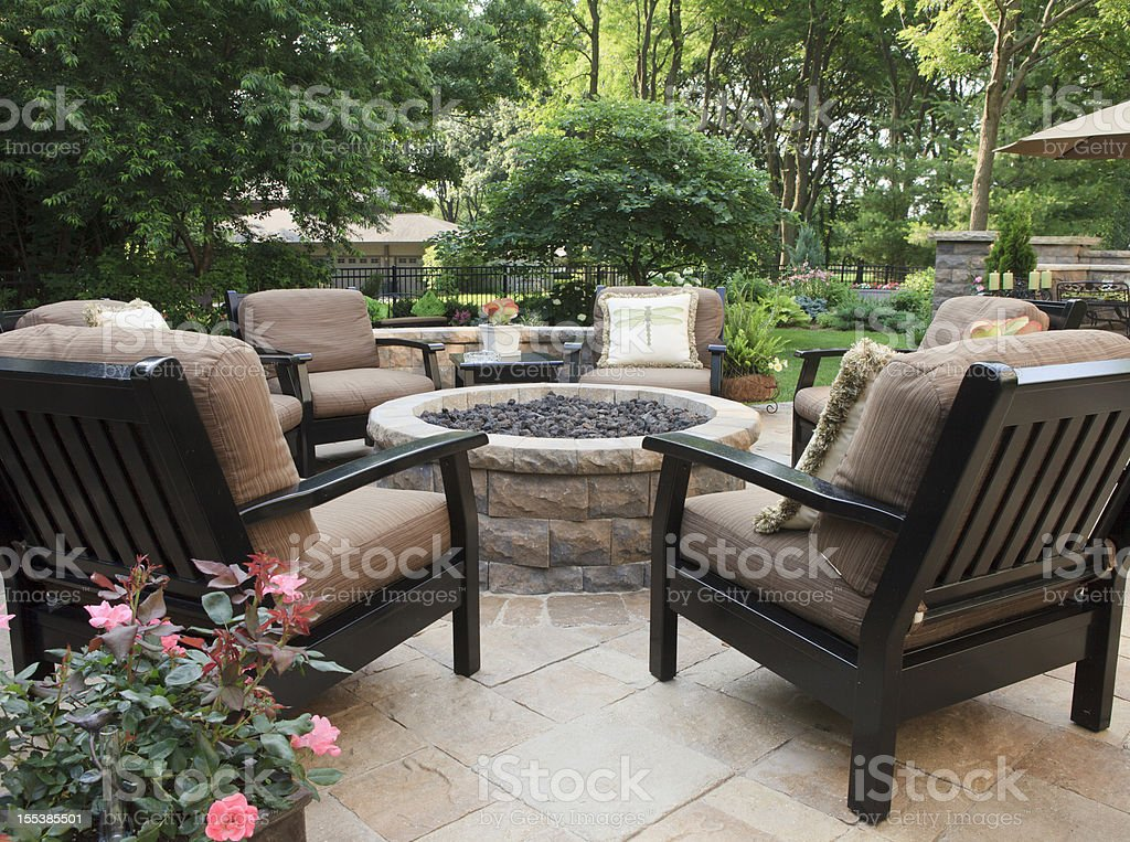 Patio Fire Pit royalty-free stock photo