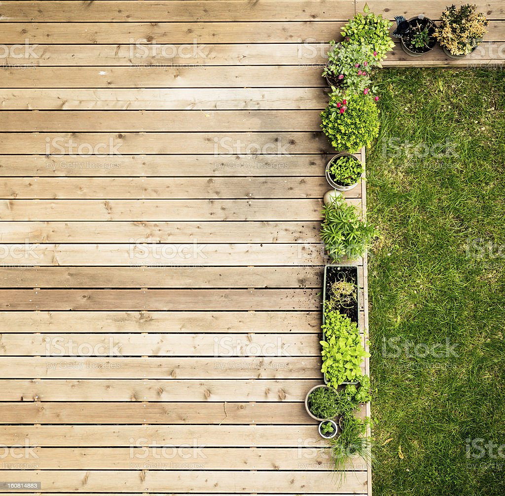 patio from above stock photo