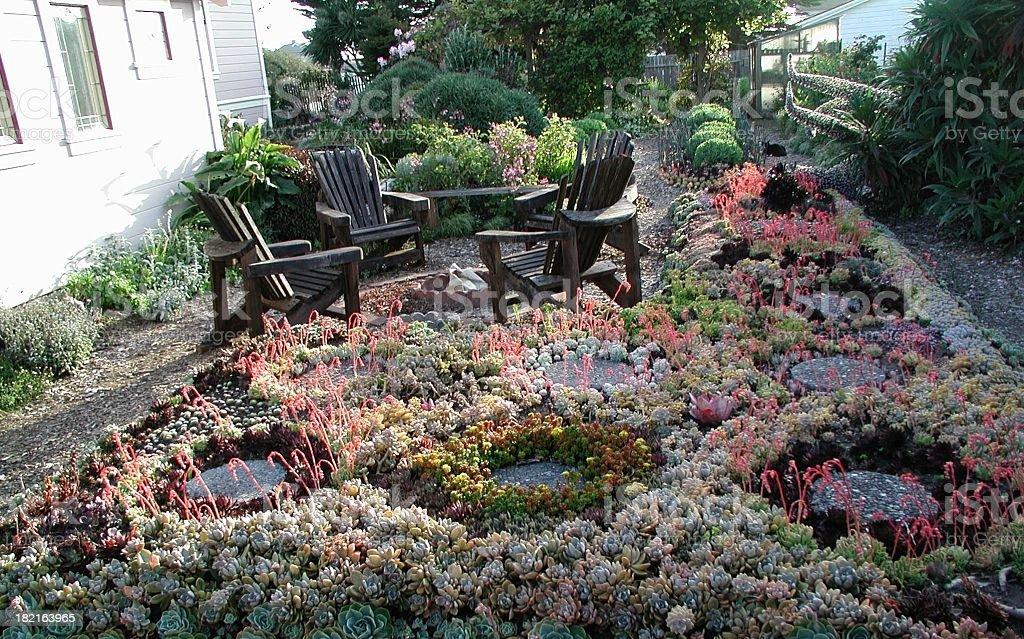patio garden royalty-free stock photo