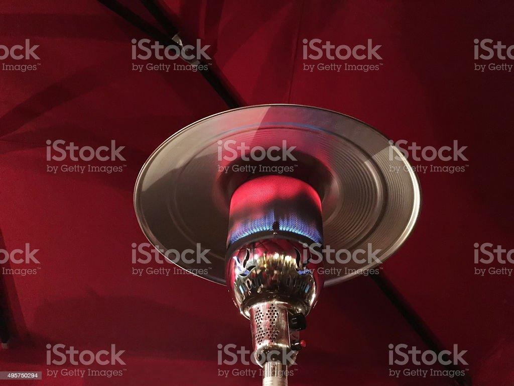 Patio Heater stock photo