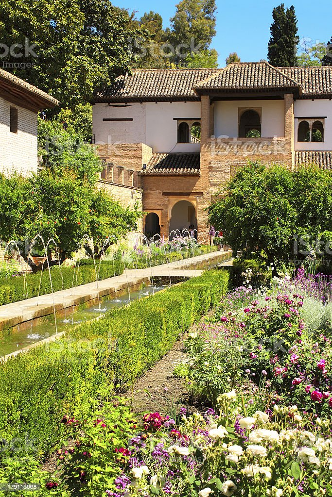 Patio in Alhambra royalty-free stock photo