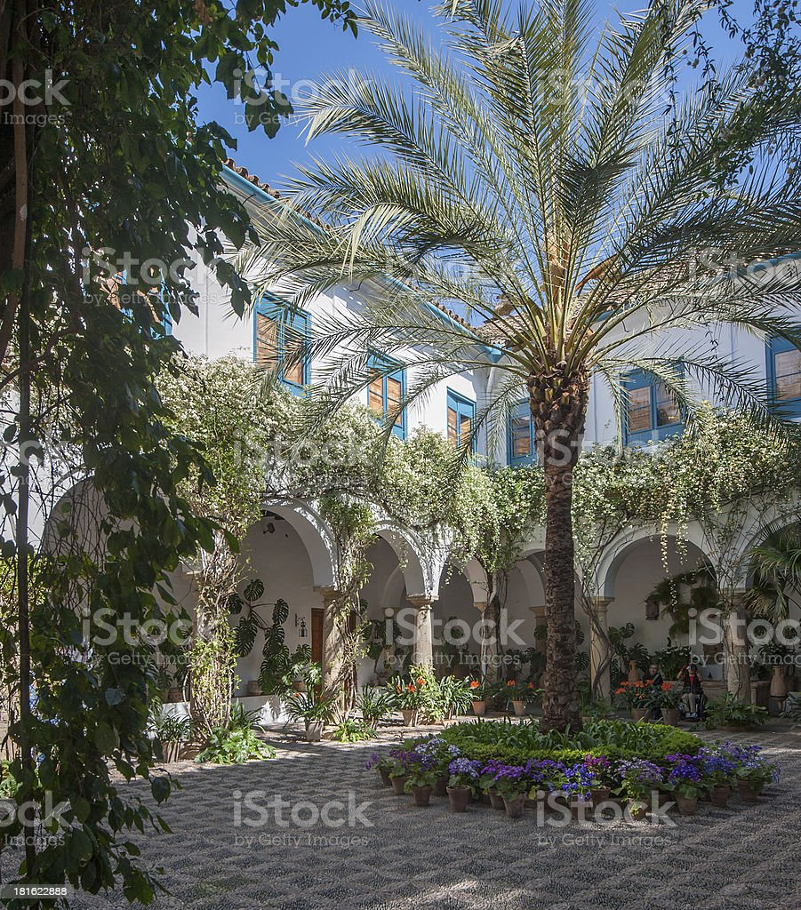Patio in Cordoba, Andalusia, Spain royalty-free stock photo