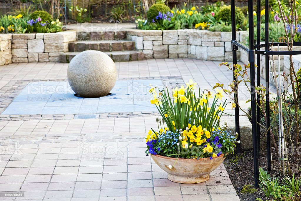 patio in spring royalty-free stock photo
