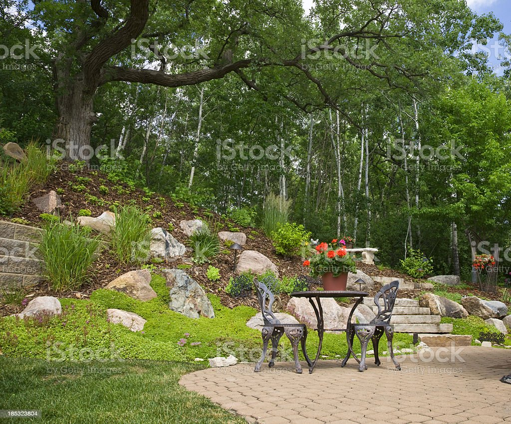Patio in the Garden royalty-free stock photo