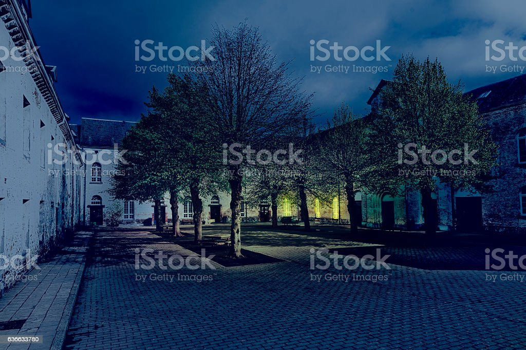 Patio of the Belgian House stock photo