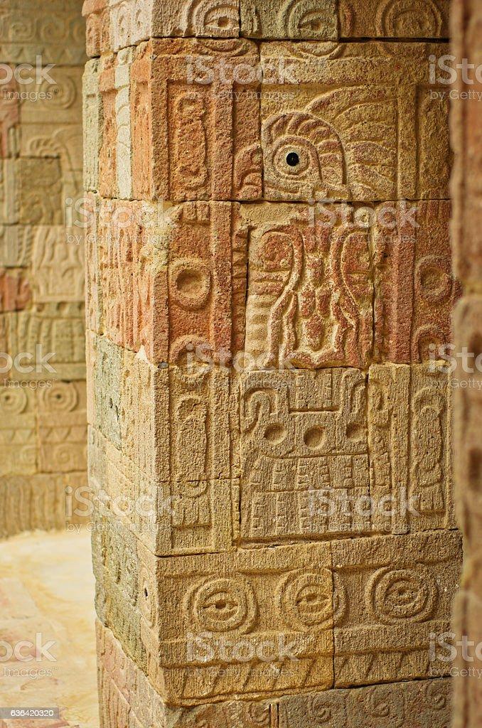 Patio of the Pillars (Patio de los Pilares), Teotihuacan stock photo