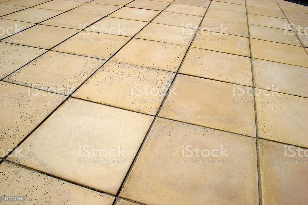 Patio Paving royalty-free stock photo