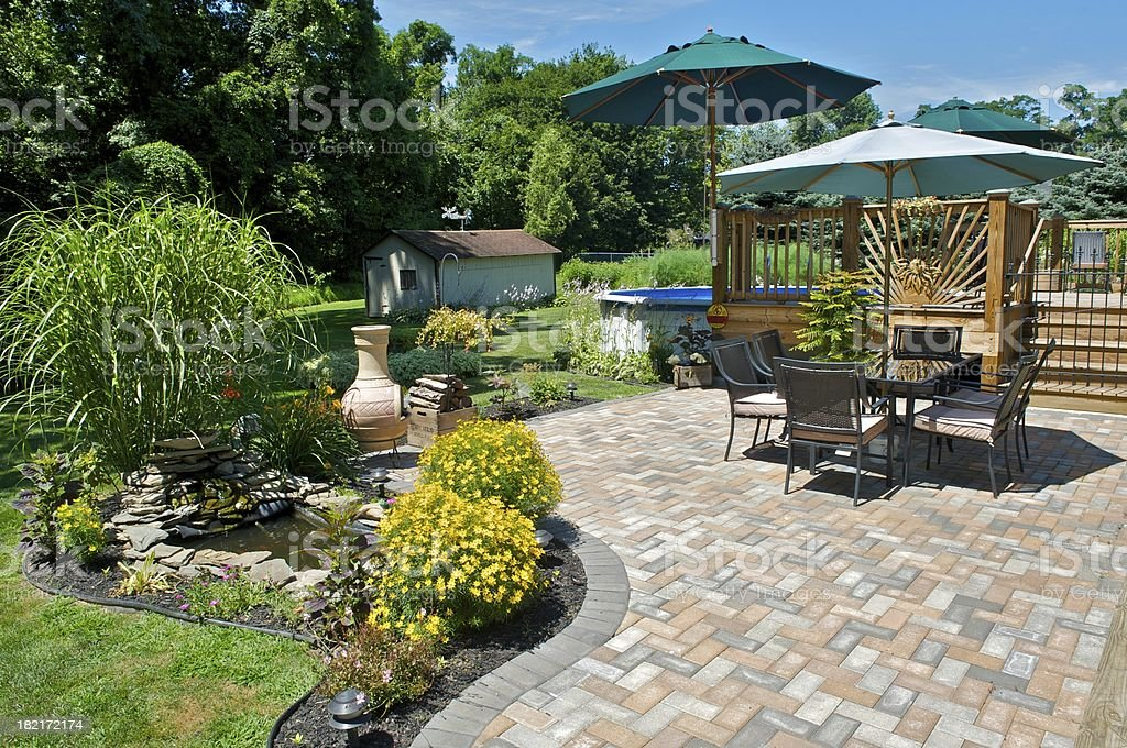 patio royalty-free stock photo