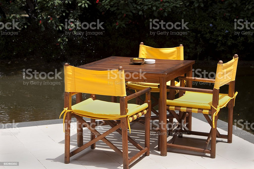 Patio table and chairs royalty-free stock photo