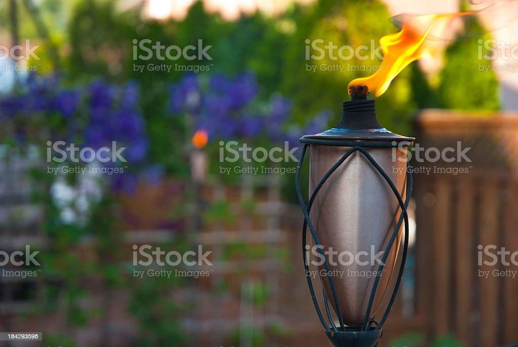 Patio torch stock photo