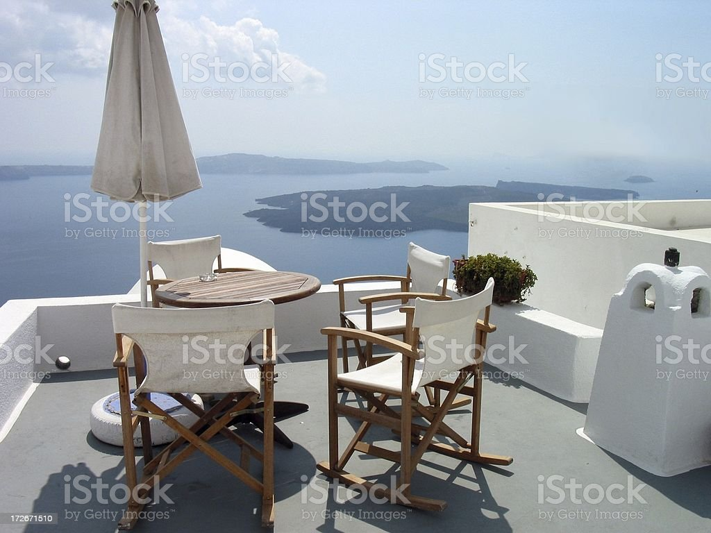 Patio View royalty-free stock photo