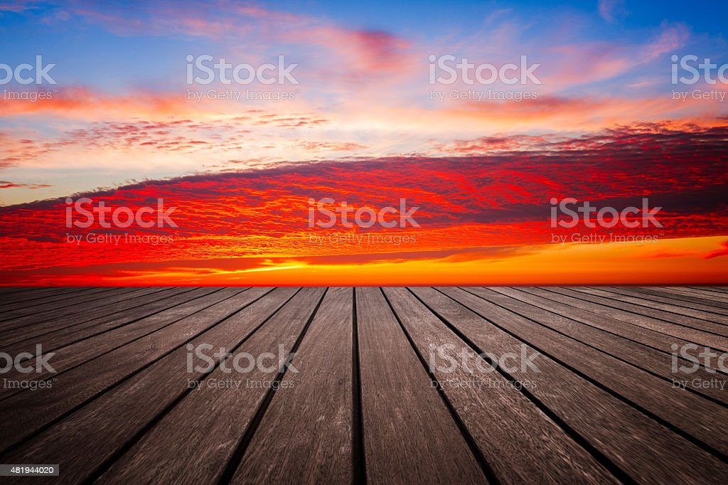 Patio with a Beautiful View stock photo