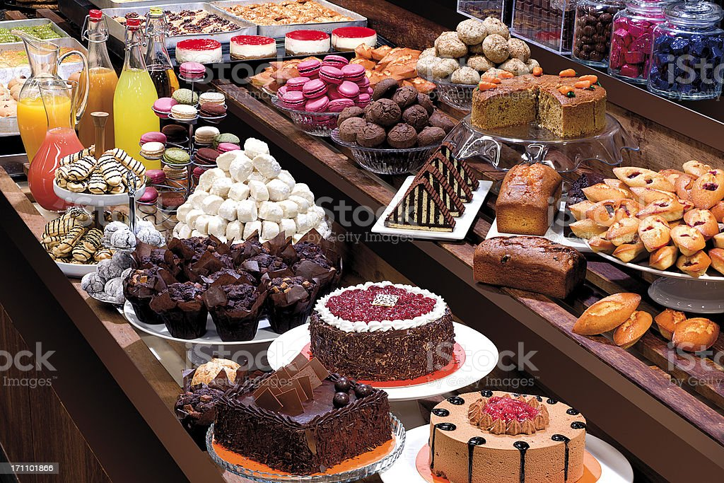 Patisserie Showcase stock photo