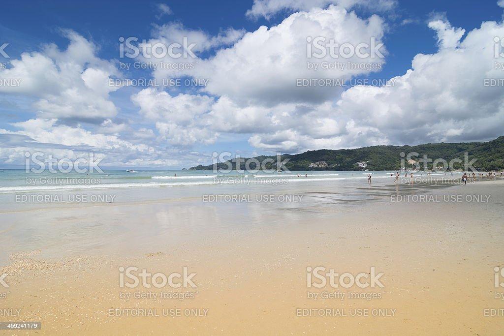 Patong Beach at Phuket island. stock photo