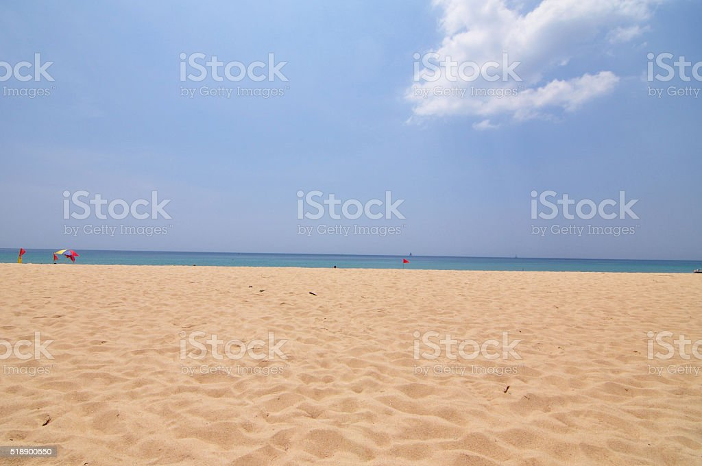 Patong beach in Phuket stock photo