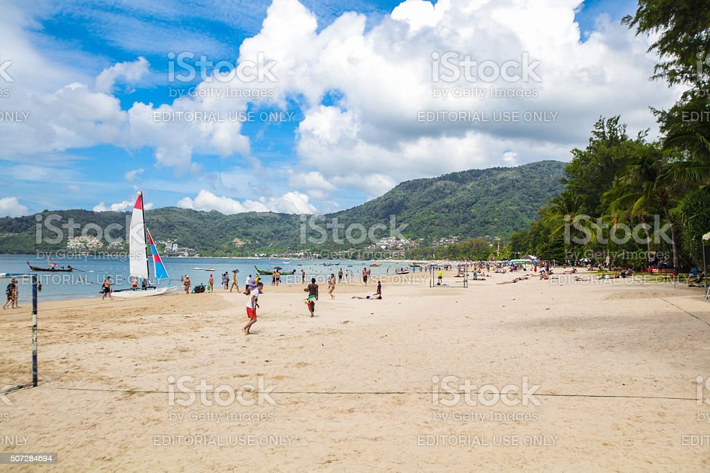 Patong Beach on Phuket, Thailand stock photo