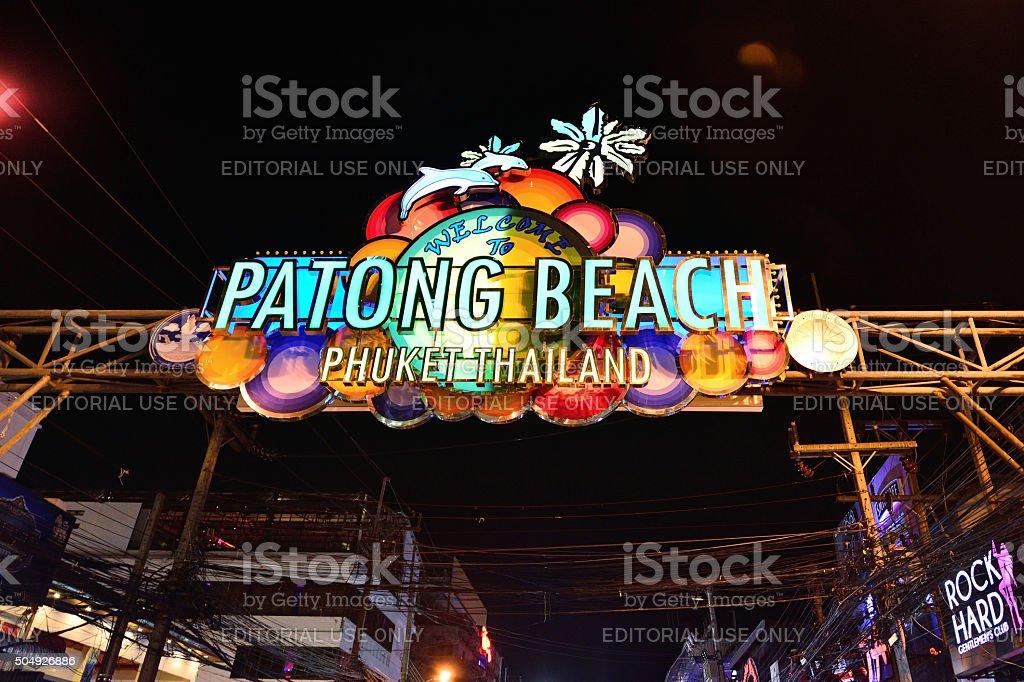 Patong beach, Phuket Province , Thailand stock photo