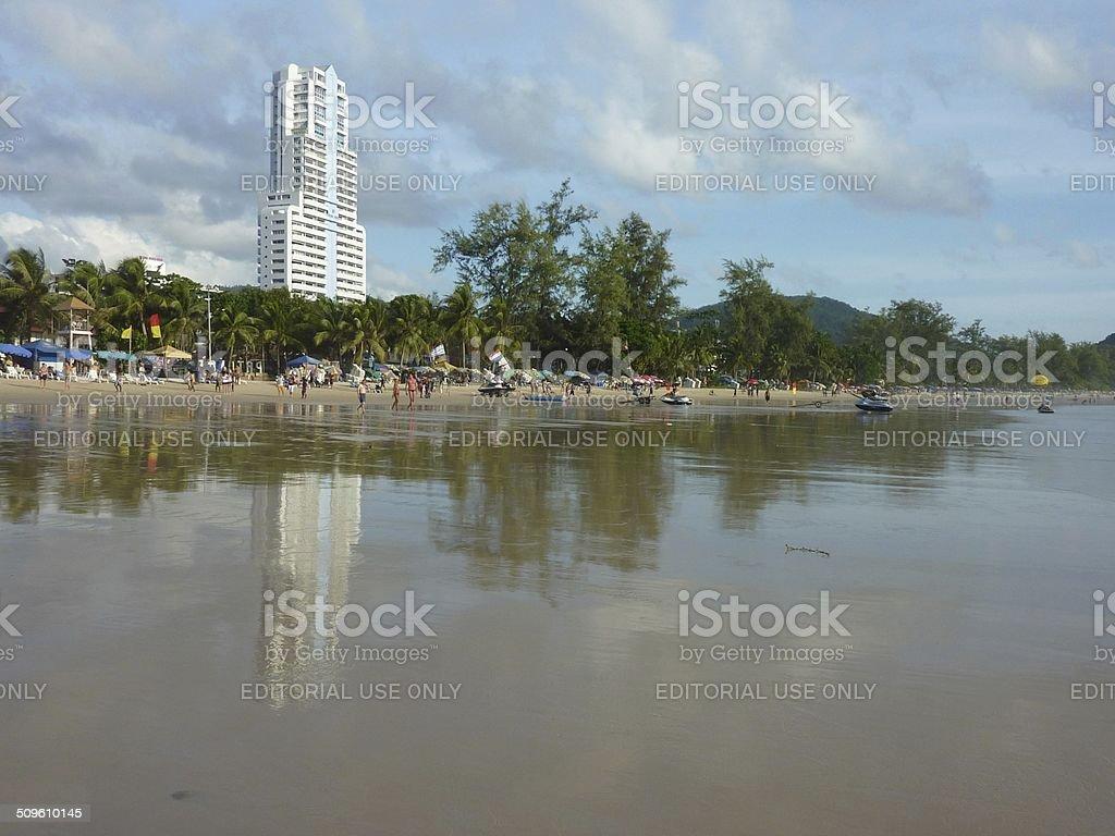 Patong beach, Phuket Thailand stock photo