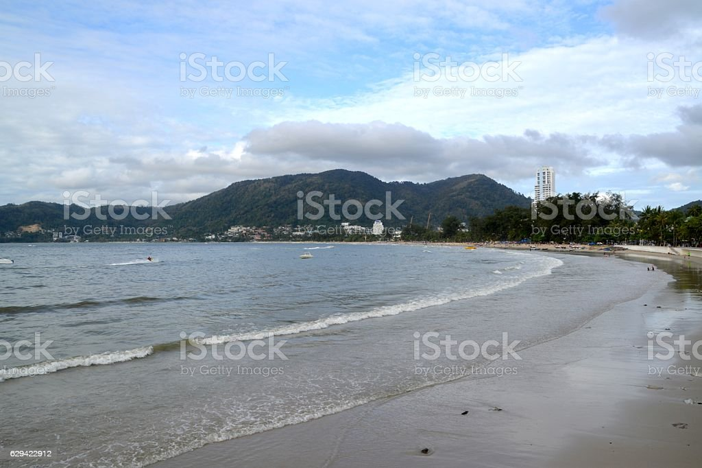 Patong beach, Phuket, Thailand stock photo